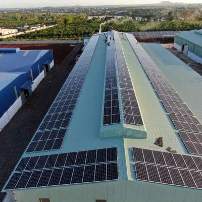 Hệ thống điện Mặt Trời hòa lưới 350 kWp tại Khu công nghiệp Trà Đa