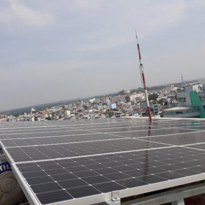 Hệ thống điện Mặt Trời hòa lưới 15,84 kWp tại Trường THCS Á Châu